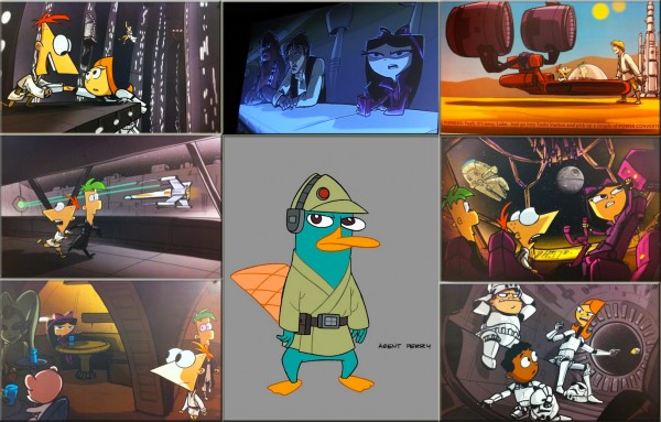 Concepts arts Phineas y Ferb: Especial STAR WARS