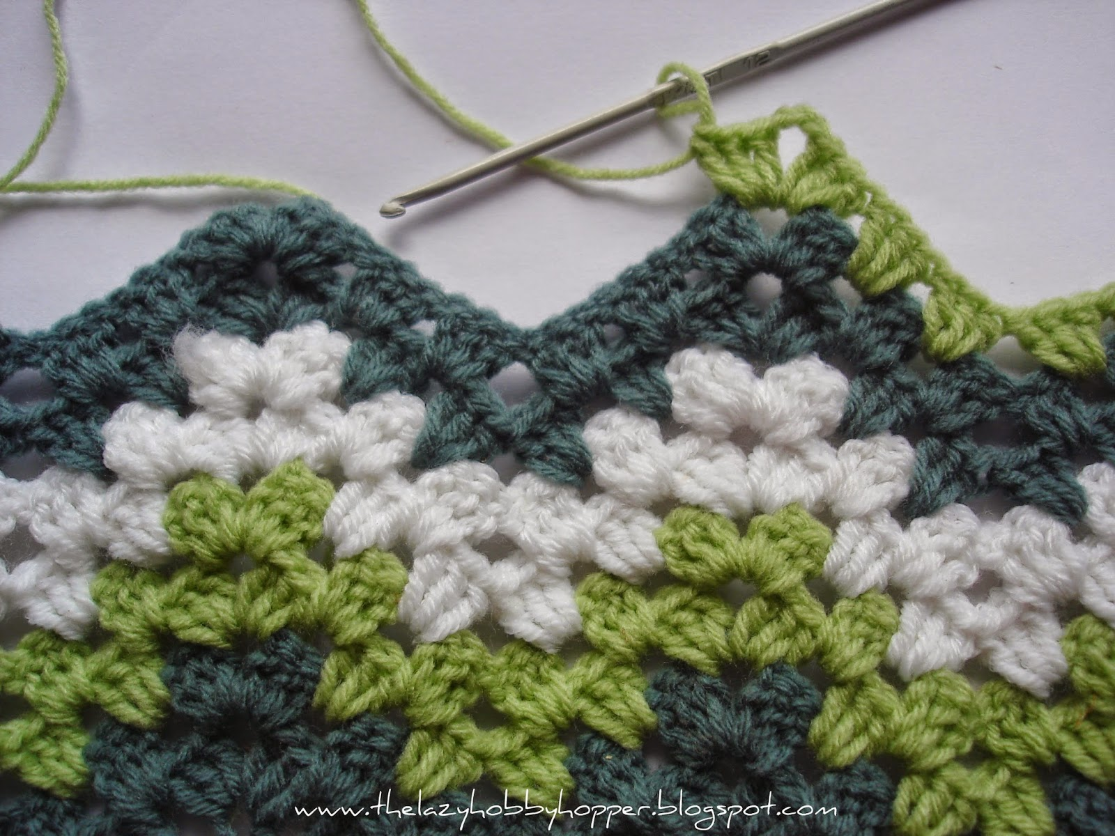 Easy Crochet Ripple Afghan Tutorial : The Lazy Hobbyhopper: Free Crochet Patterns