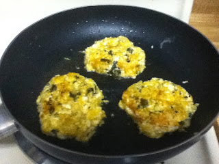 ButterNut Squash Patties Cooking