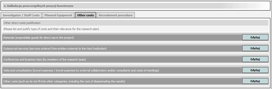 Nowy sposób rozliczania kosztów we wnioskach do NCN