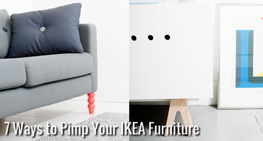 7 ways to pimp your ikea furniture nordic days by flor. Black Bedroom Furniture Sets. Home Design Ideas