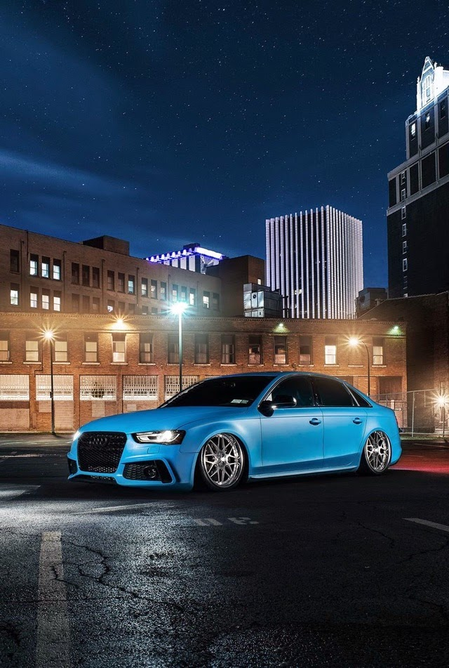 Audi S4 Blue Cars Iphone 4 Wallpaper