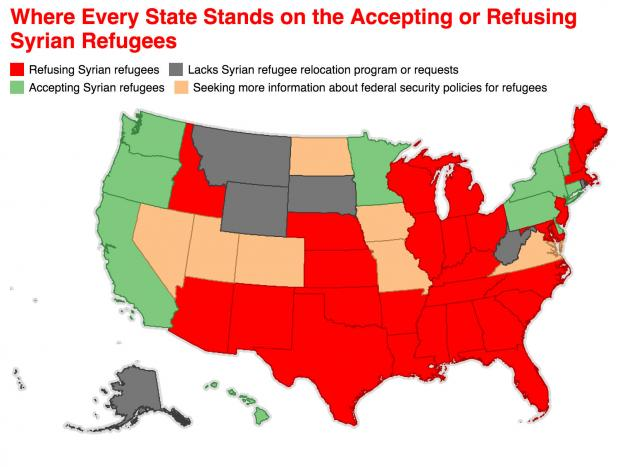 Where Every State Stands About Accepting Refugees As Of November 17, 2015
