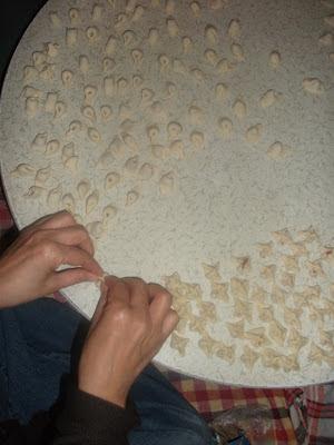 mantı yapımı