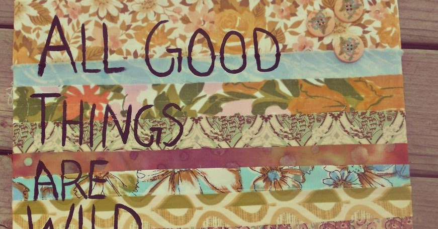 Diy Wall Art Collage : Meganmakescute diy fabric collage quoted wall art