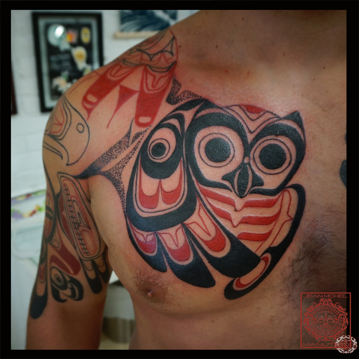 tatouage polynesien polynesian tattoo northwest coast art haida owl. Black Bedroom Furniture Sets. Home Design Ideas