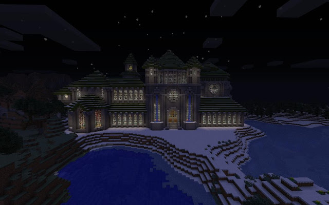 Minecraft Castle at night