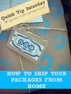 How to ship your Etsy orders from home by Ginas Craft Corner @ ginascraftcorner.com