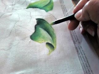طريقة الرسم على القماش بالخطوات الصور