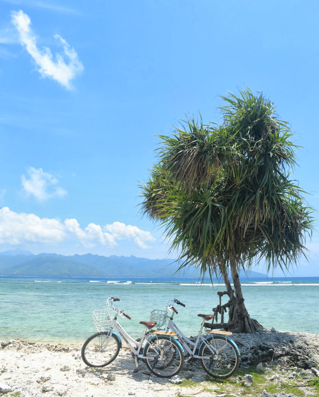 bicycle beach gili trawangan indonesia