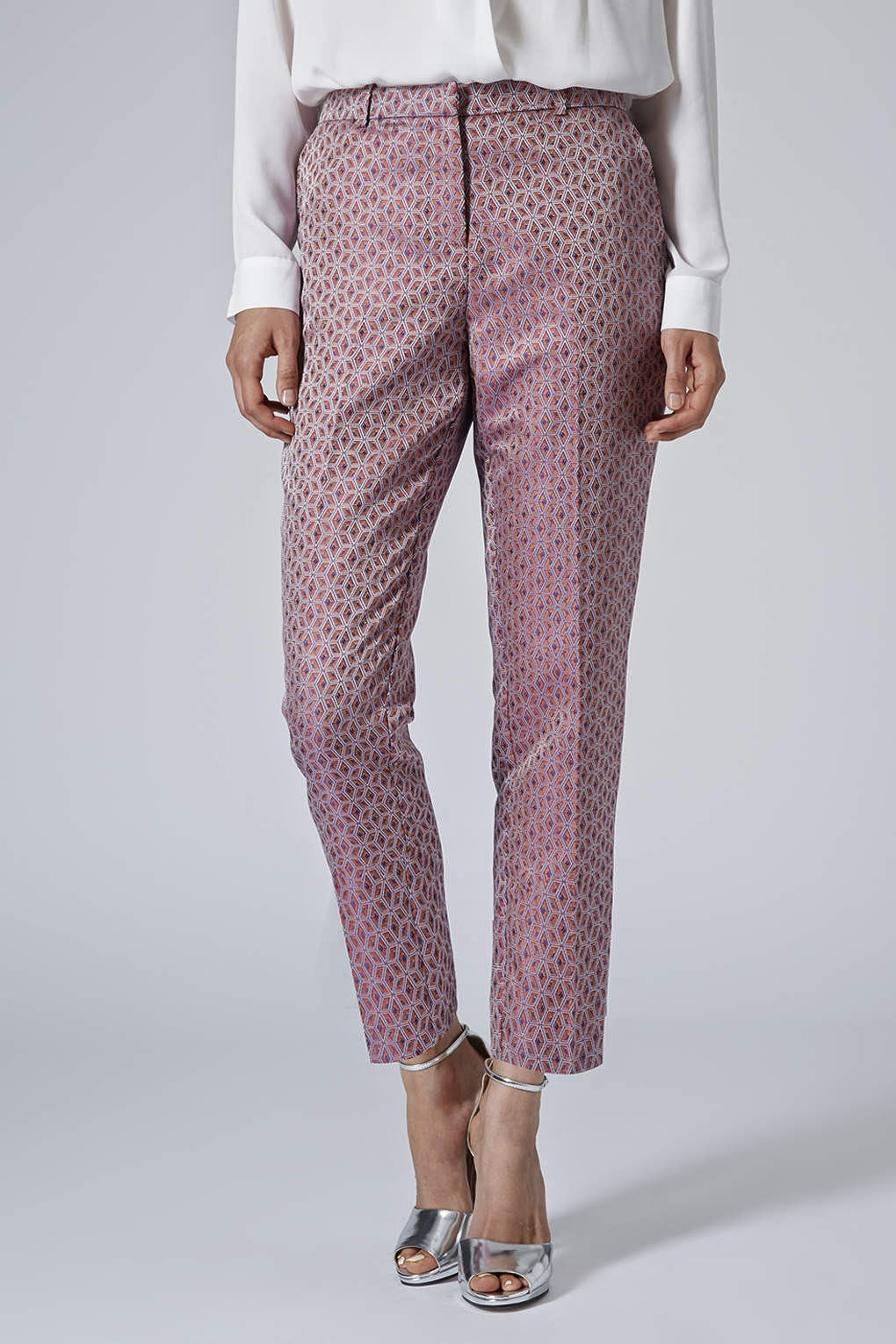 pink smart trousers