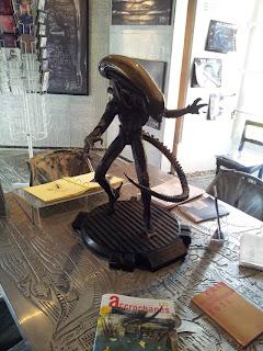 HR Giger Alien statue