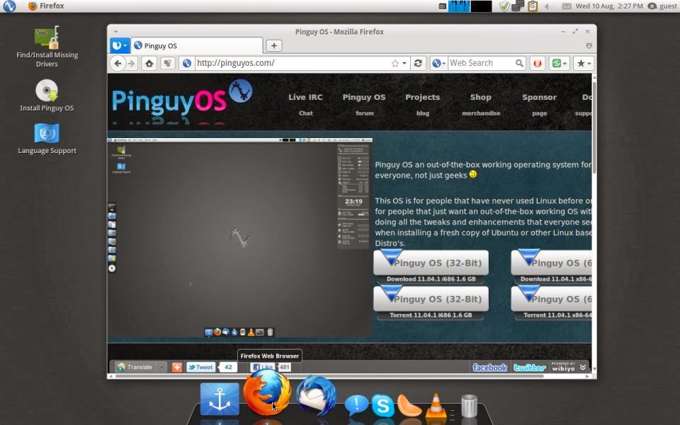 Pinguy OS firefox