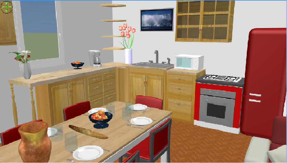 Modele cuisine sweet home 3d pr l vement d for Cuisine pour sweet home 3d