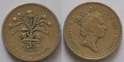 england one pound scottish thistle