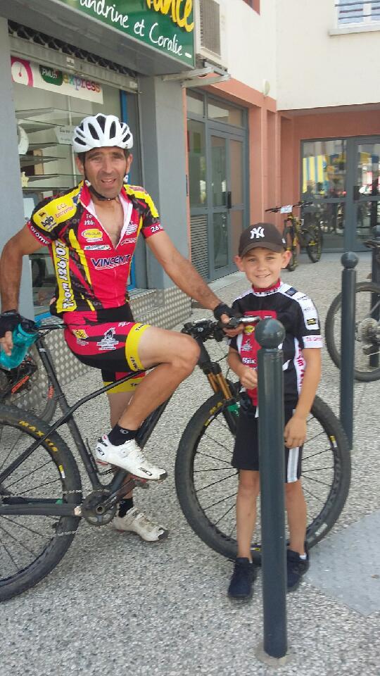 Raid des Monts d'Ardèche, Alain et son fils