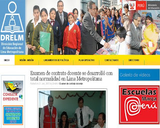 Resultados DRELM Lima Metropolitana Contrato Docentes 2014 19 de Enero