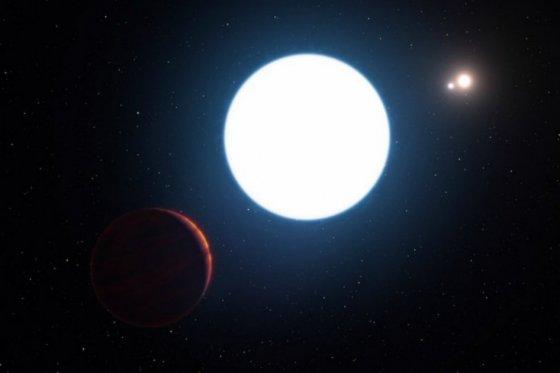 Descubren planeta con tres soles.