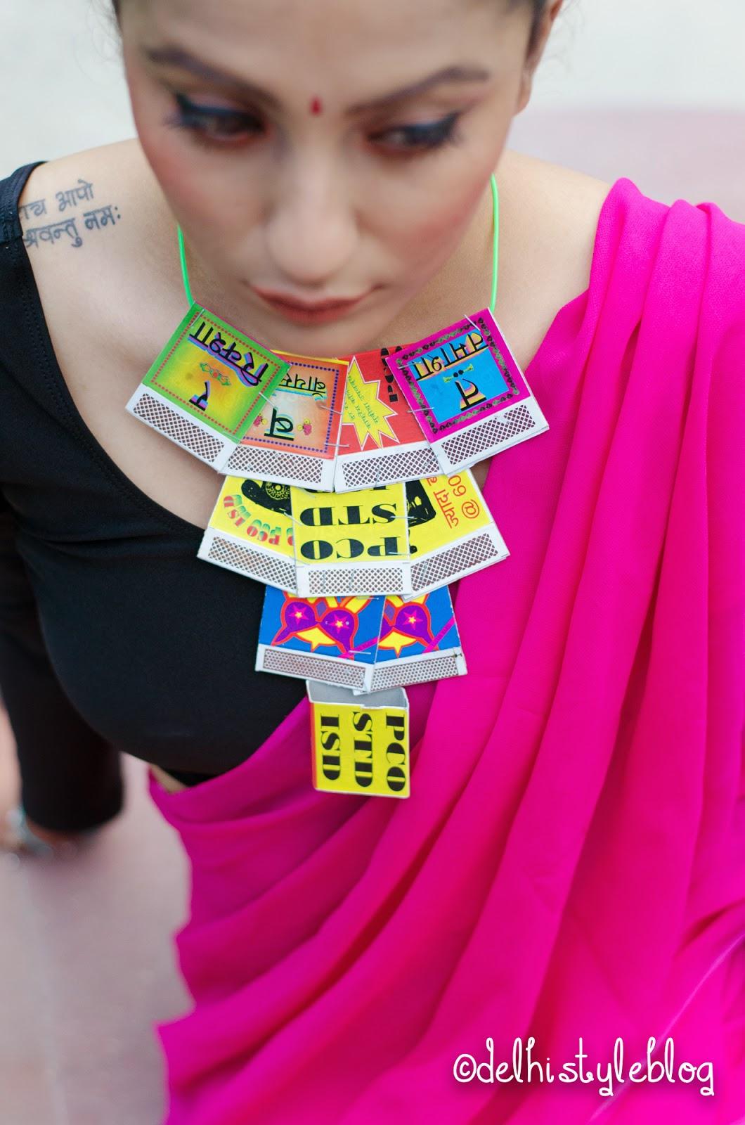 DIY Nida Mahmood Matchbox necklace
