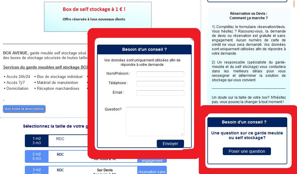 Nouveau service location for Garde meuble rennes tarif