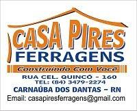 PUBLICIDADE - CASA PIRES FERRAGENS - TUDO PARA MATERIAL DE CONSTRUÇÃO