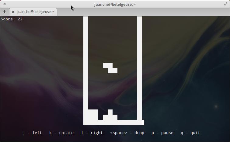Tetris desde la línea de comandos