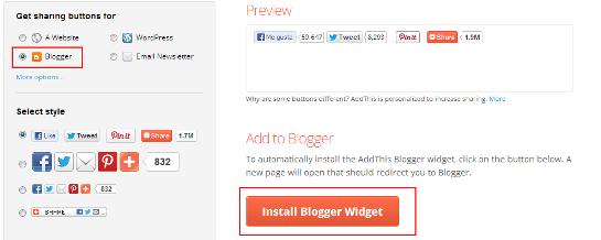 Addthis Install Blogger Widget