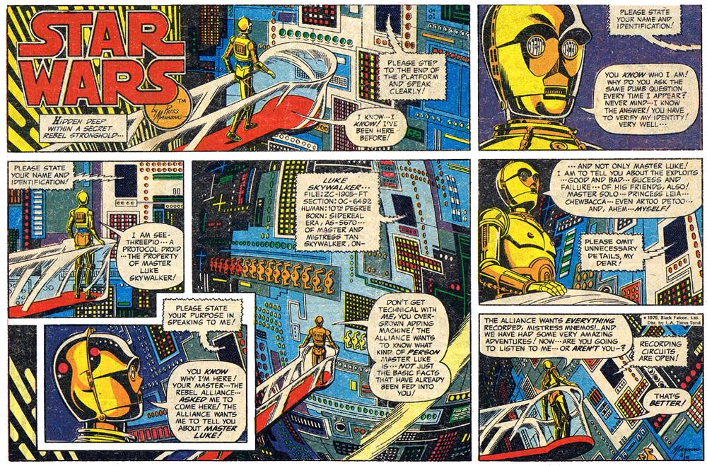Russ Manning Hasslein Blog Star Wars The Russ Manning and Russ Helm Newspaper