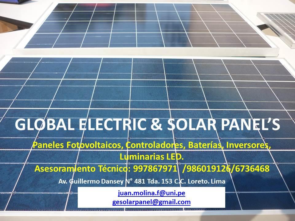 Insumos de Sistemas Fotovoltaicos para Proyectos de Electrificación