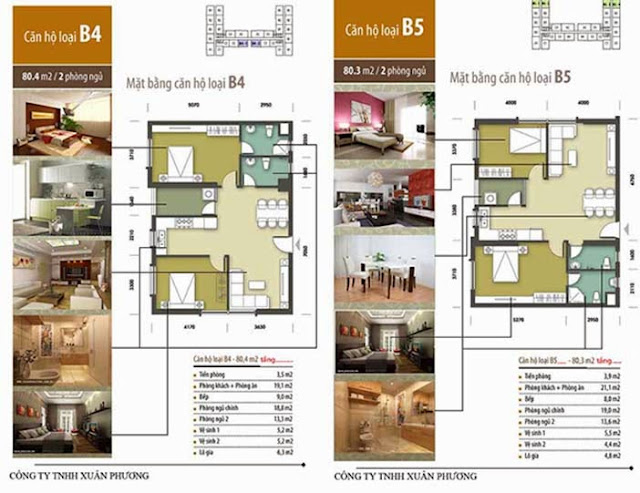 Căn hộ B4-B5 chung cư Tân Tây Đô CT1B