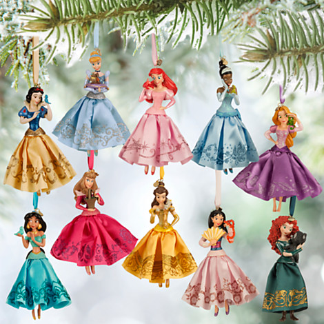 last year disney introduced the disney princess tree decorations and this year they are together as a set of 10