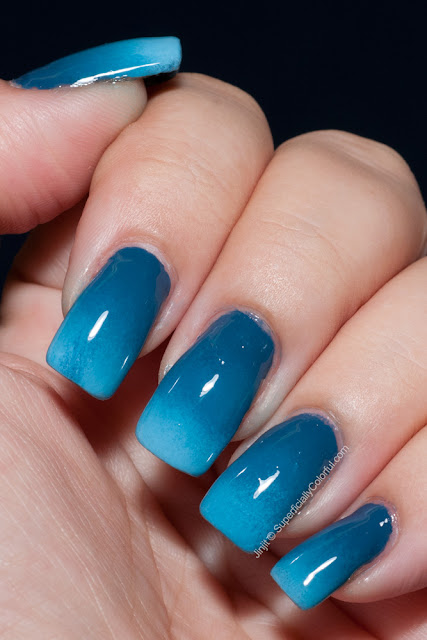 Sinful Colors Rain Storm Ocean Side China Glaze Bahamian Escape Gradient