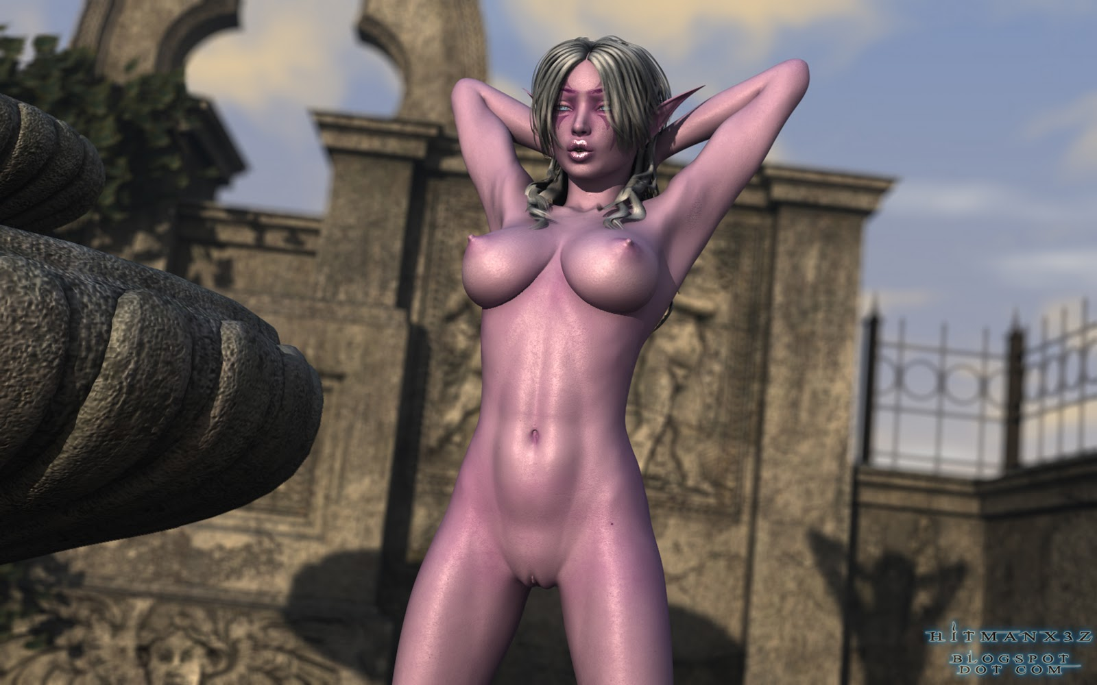 Hot and sexy naked elf getting humped cartoon tubes