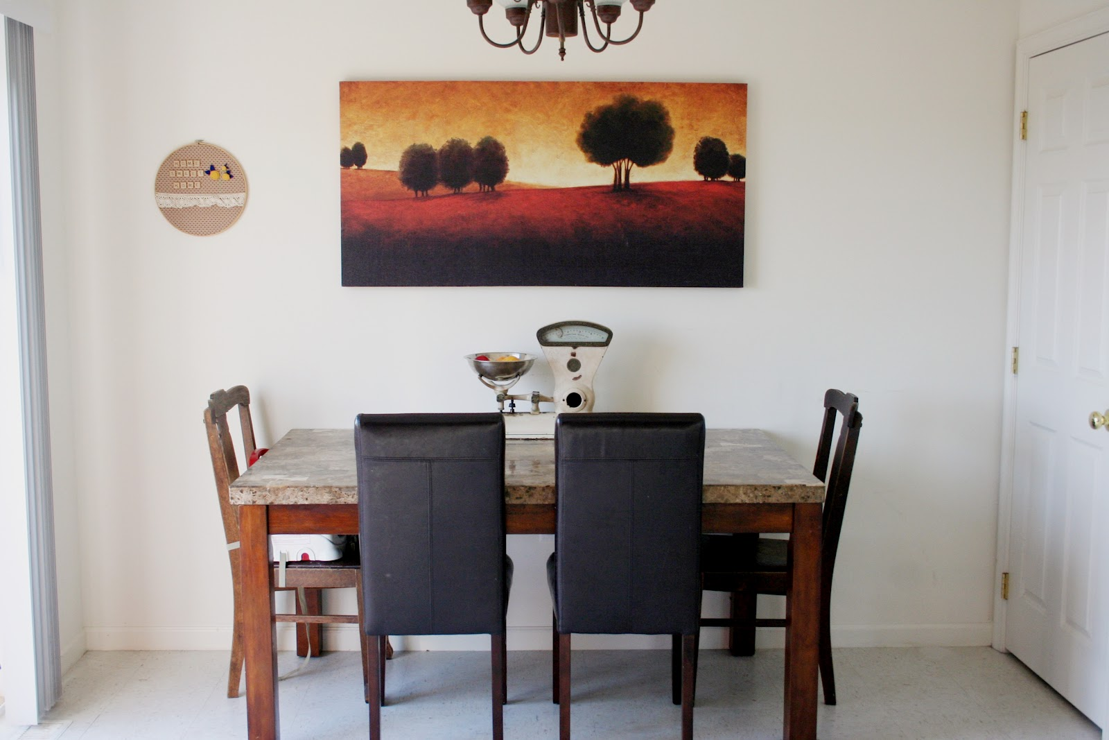 Against The Wall Dining Table Country Mouse Tales House Tour Eat In Kitchen