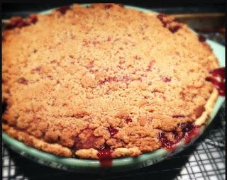 SOUNDING MY BARBARIC GULP!: Cherry Streusel Pie