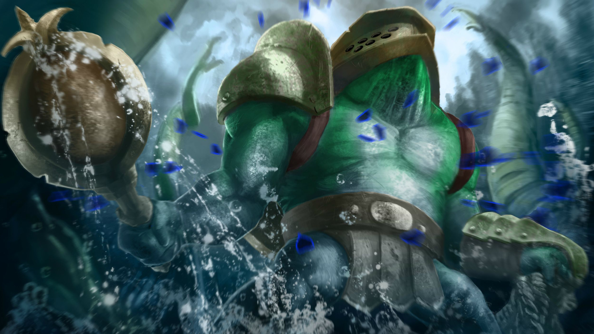 Dota 2 Tidehunter Set 7h HD Wallpaper