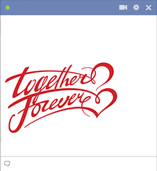 Together forever Facebook sticker