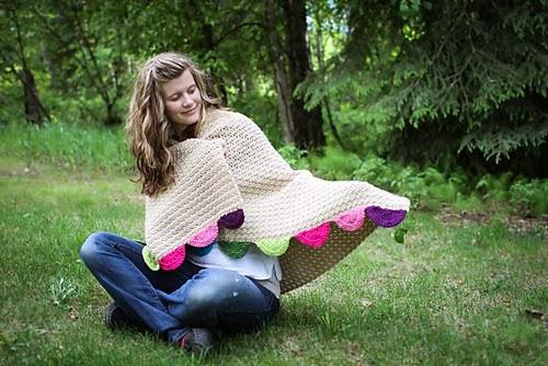 free crochet pattern bunting blanket