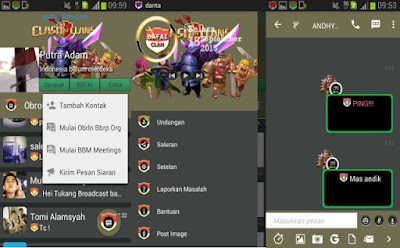 BBM Mod Tema Clash Of Clans New Update V2.9.0.51 Apk