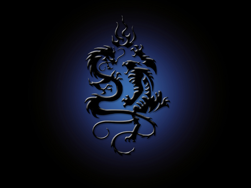 wallpaper blue. Blue Dragon Wallpaper