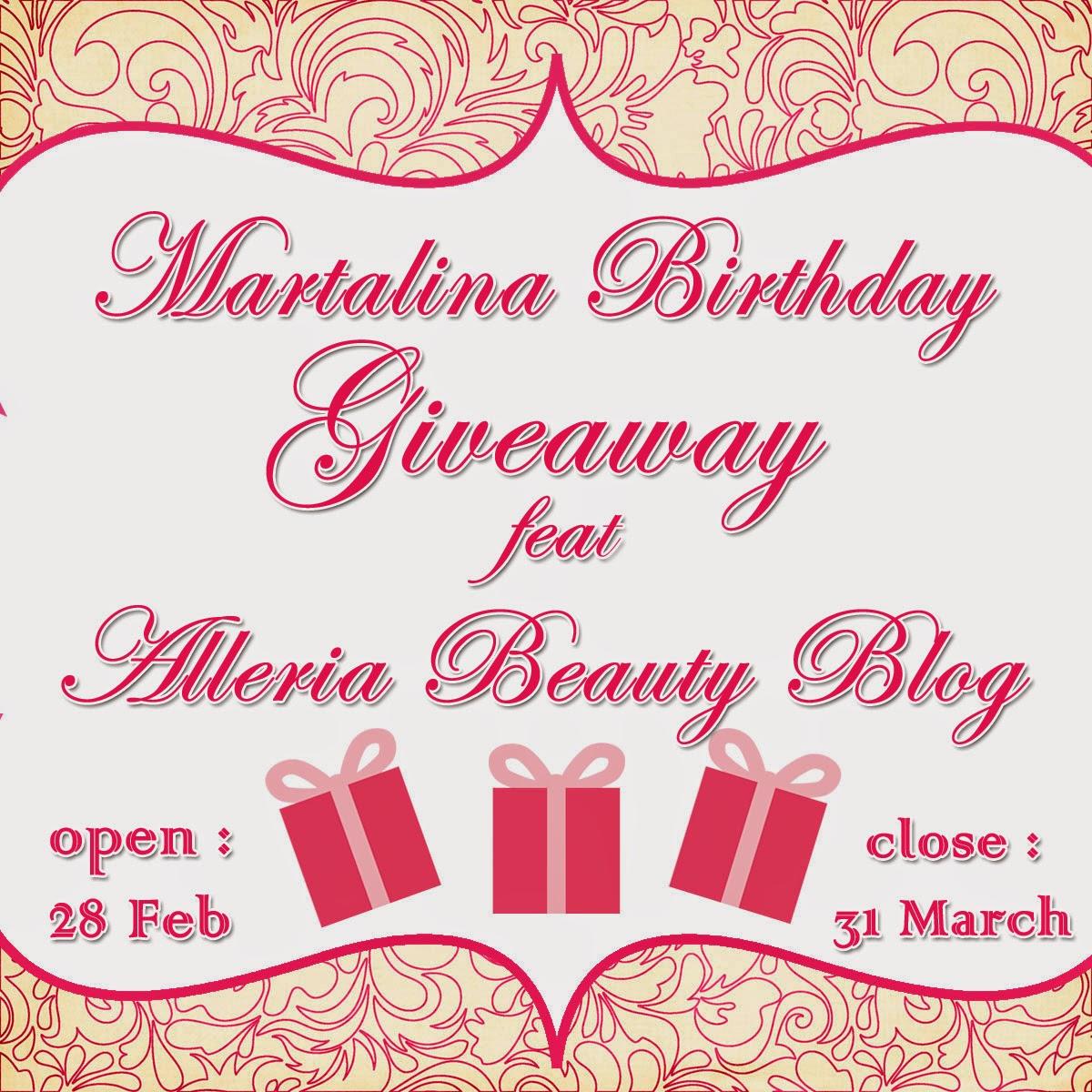 Martalina Birthday Giveaway