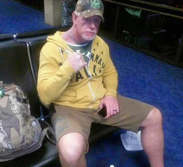 Undertaker Looking Super Old at the Airport.