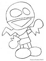 Sketsa Gambar Snap Dari Film Kartun Chalkzone