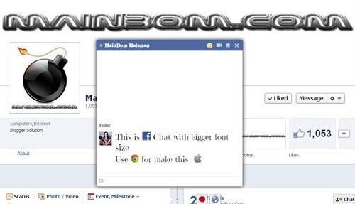 Cara Mempercantik Chat Facebook