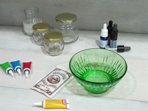 Materiales para elaborar Ambientador en gel con aceites esenciales