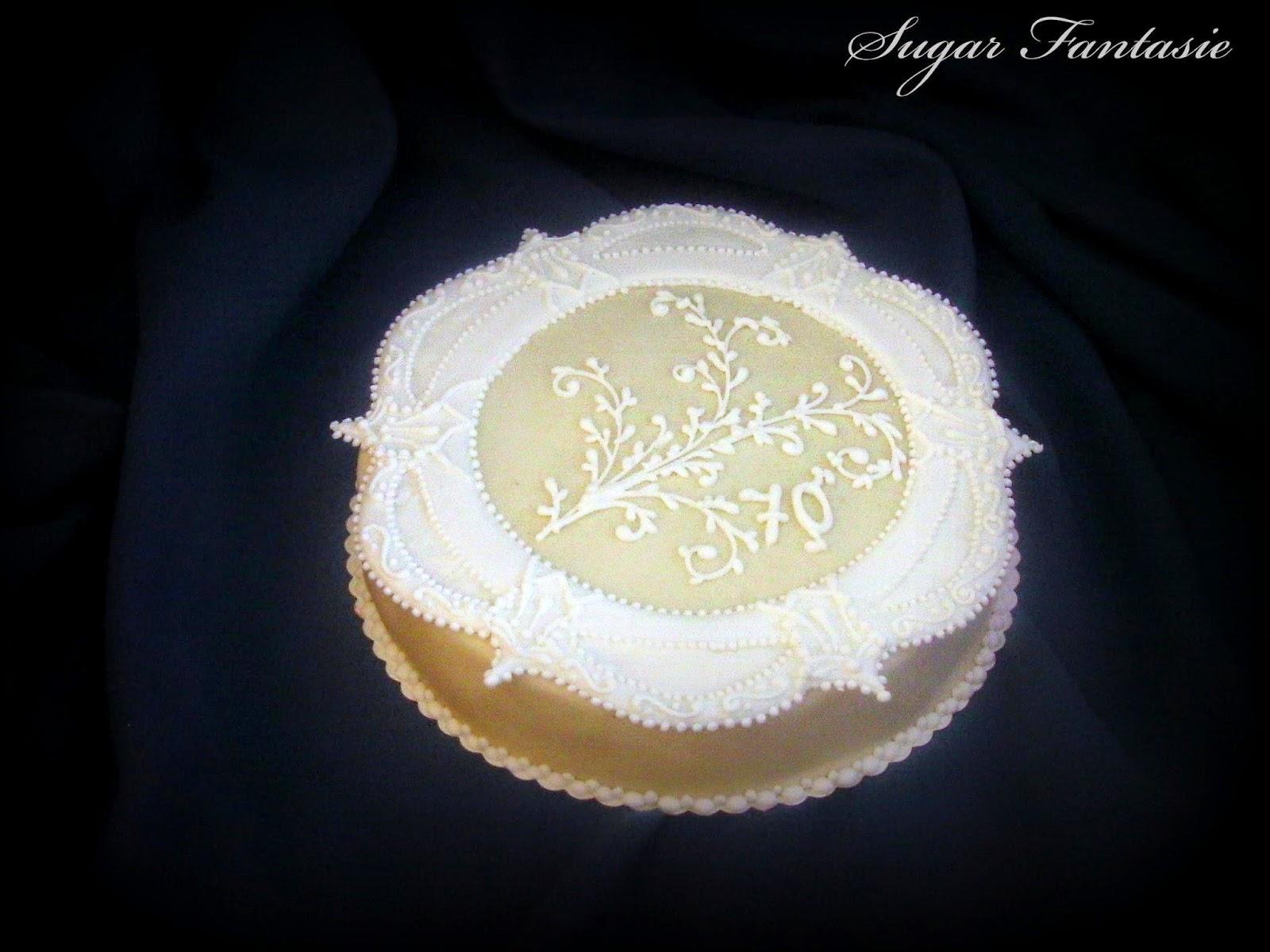 glazúrdíszes torta
