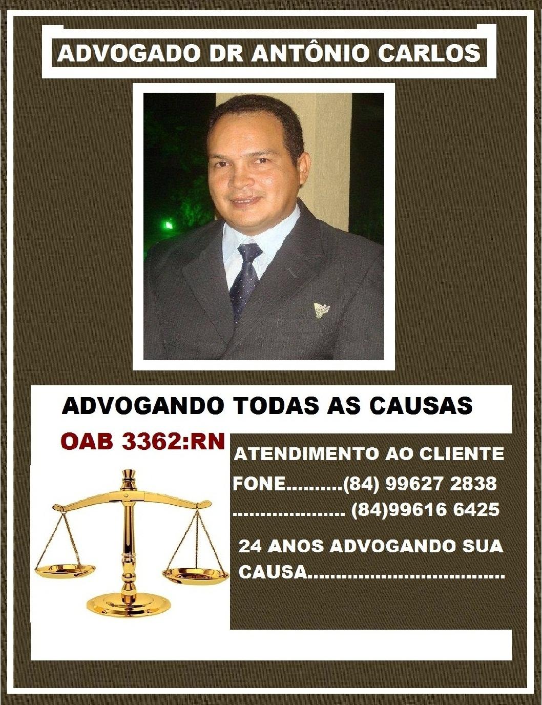 ADVOGADO DR ANTÔNIO CARLOS