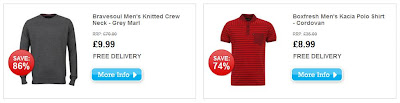 DailyDeals bei The Hut: Bravesoul Men's Knitted Crew Neck für 9,99 Pfund und Boxfresh Men's Kacia Polo Shirt für 8,99 Pfund