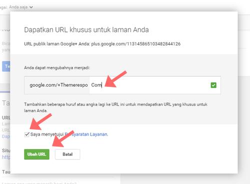 Membuat URL Khusus Untuk Halaman Google Plus