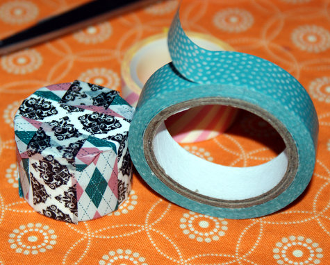 DIY Washi Tape Craft Project - Washi Tape Decorated Lip Balm Pots for Gifts and Favors